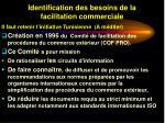 identification des besoins de la facilitation commerciale39