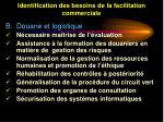 identification des besoins de la facilitation commerciale41