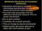 identification des besoins de la facilitation commerciale44