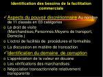 identification des besoins de la facilitation commerciale7