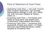 parts of statement of cash flows