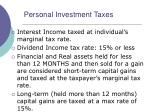 personal investment taxes