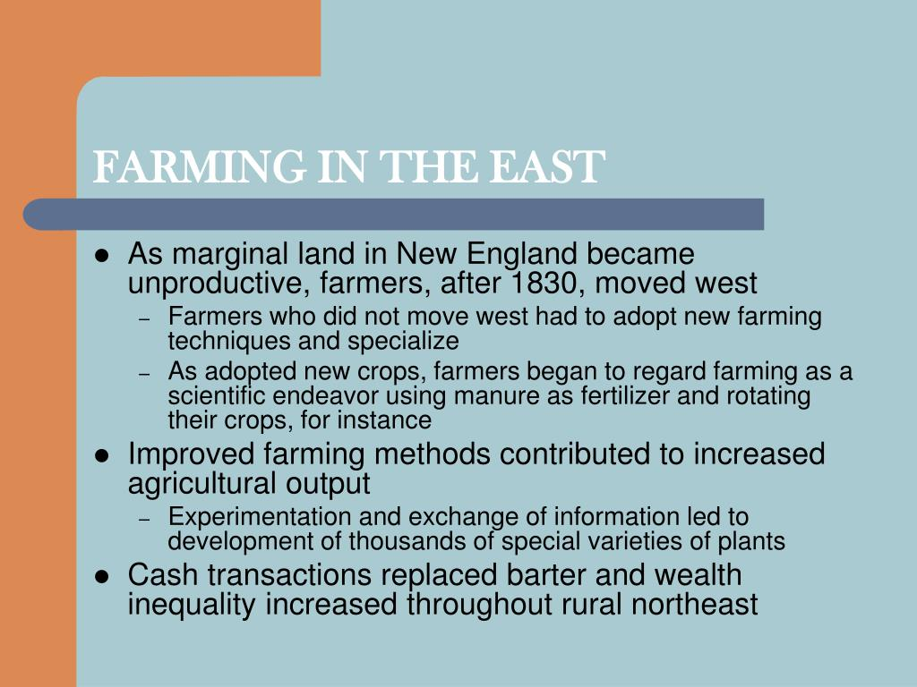 FARMING IN THE EAST
