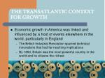 the transatlantic context for growth