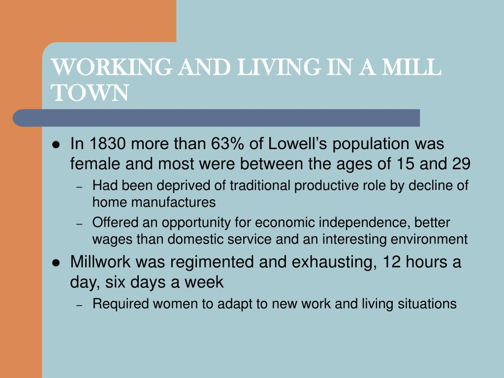 WORKING AND LIVING IN A MILL TOWN