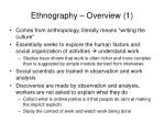 ethnography overview 1