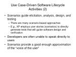 use case driven software lifecycle activities 2