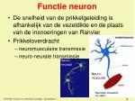 functie neuron