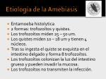 etiolog a de la amebiasis