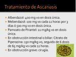 tratamiento de ascariasis