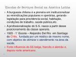 escolas de servi os social na am rica latina