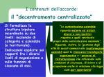 i contenuti dell accordo