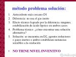 m todo problema soluci n1