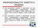 proporzionalita diretta e inversa