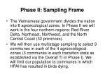 phase ii sampling frame