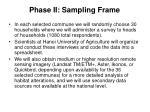 phase ii sampling frame24