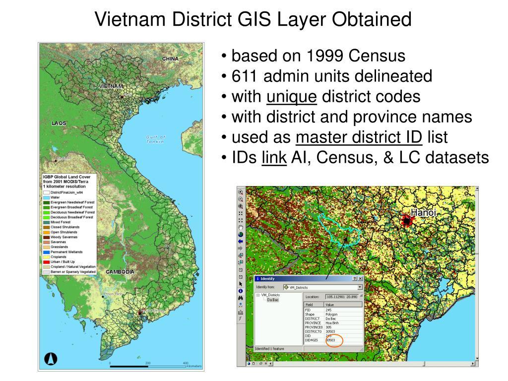 Vietnam District GIS Layer Obtained