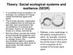 theory social ecological systems and resilience sesr