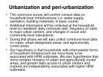 urbanization and peri urbanization