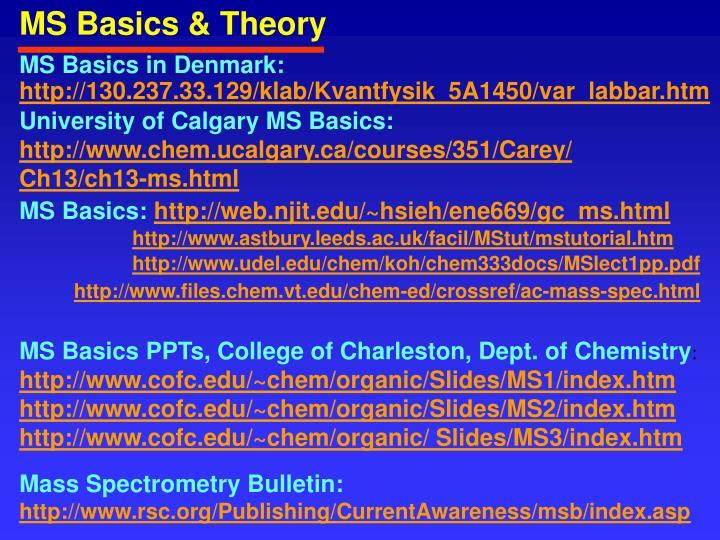 MS Basics & Theory