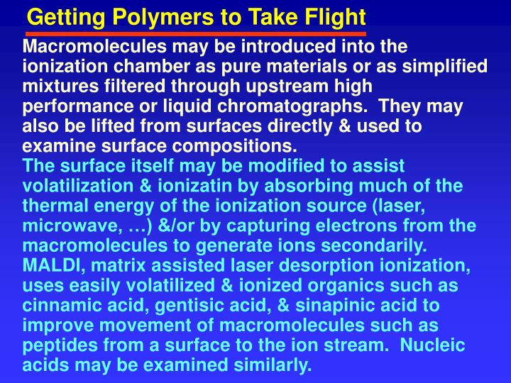 Getting Polymers to Take Flight