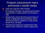 program zdravstvenih mjera prevencije u starijih osoba