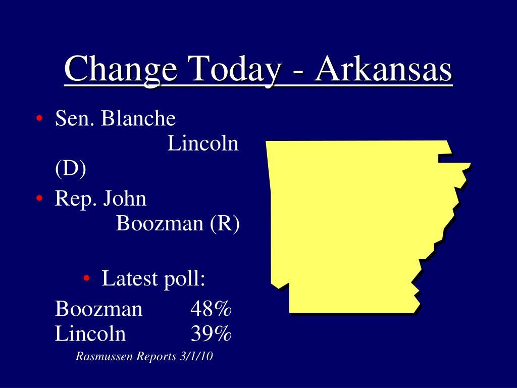 Change Today - Arkansas