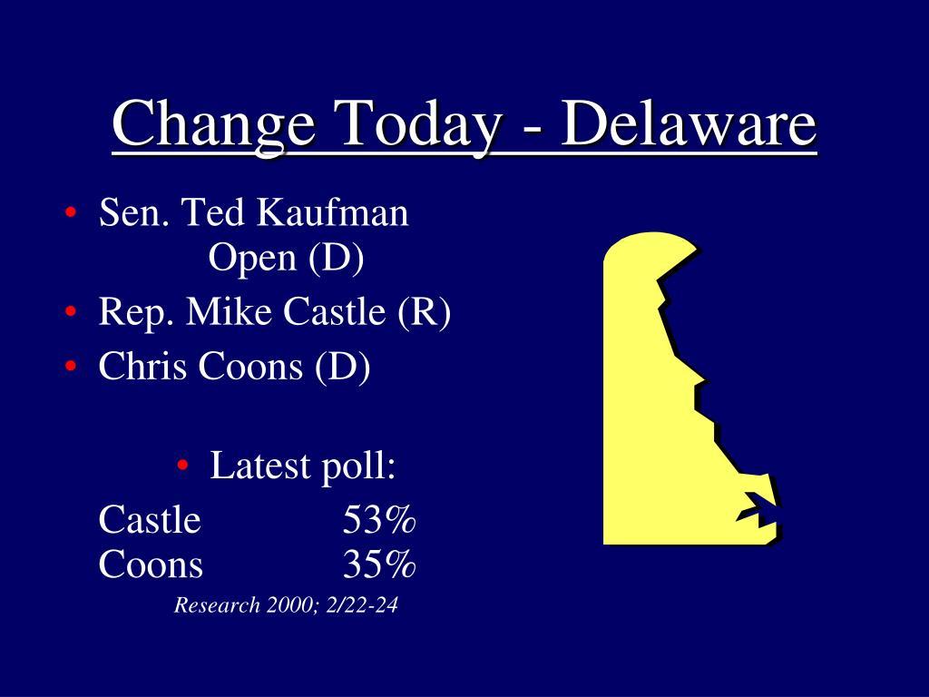 Change Today - Delaware