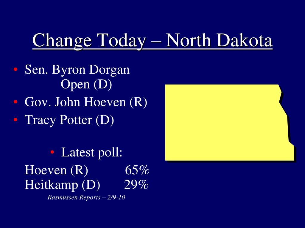 Change Today – North Dakota