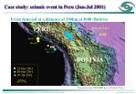 case study seismic event in peru jun jul 2001