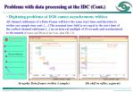 problems with data processing at the idc cont1