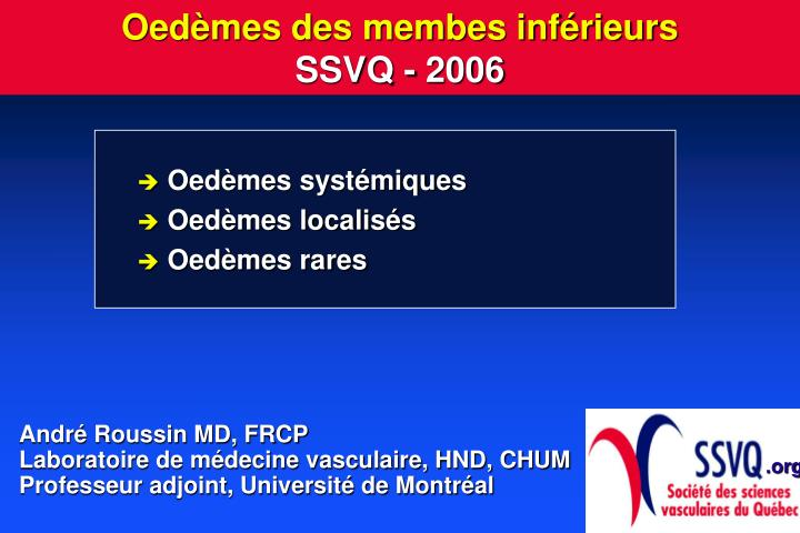 oed mes des membes inf rieurs ssvq 2006 n.
