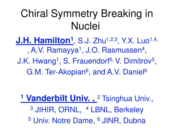 chiral symmetry breaking in nuclei n.