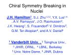 chiral symmetry breaking in nuclei