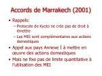 accords de marrakech 2001