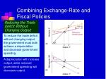 combining exchange rate and fiscal policies
