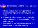 saving investment and the trade balance1