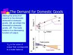 the demand for domestic goods4