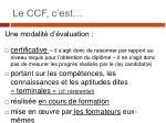 le ccf c est