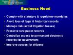 business need