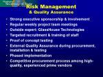 risk management quality assurance