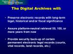 the digital archives will