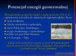 potencja energii geotermalnej