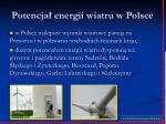 potencja energii wiatru w polsce