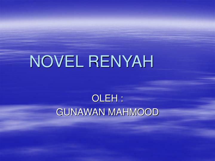 novel renyah n.