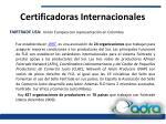 certificadoras internacionales