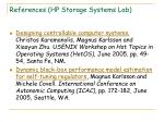 references hp storage systems lab
