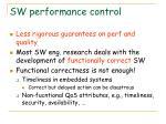 sw performance control