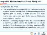propuesta de modificaci n reserva de liquidez 26 de junio 2009