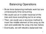 balancing operations